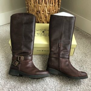 Lucky Brand Falta Tuscany Bridle Riding Boots